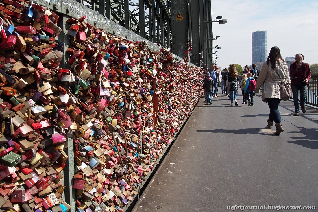 О май гат, это знаменитый мост Гогенцоллернов в Кельне!