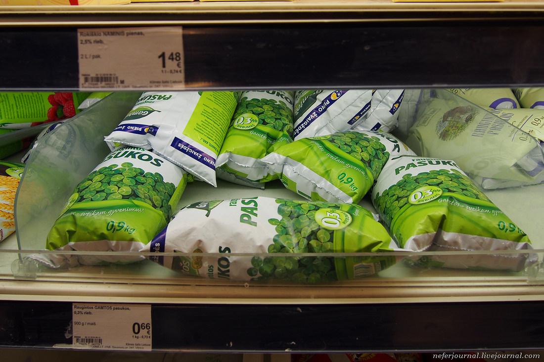 Литовский супермаркет. Пахта, кастинис и другие продукты.