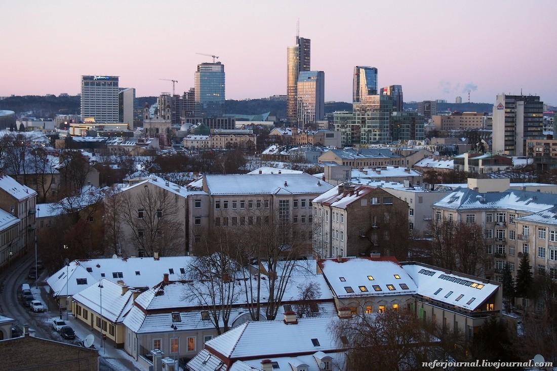 Вильнюс. Колокольня Кафедрального собора.