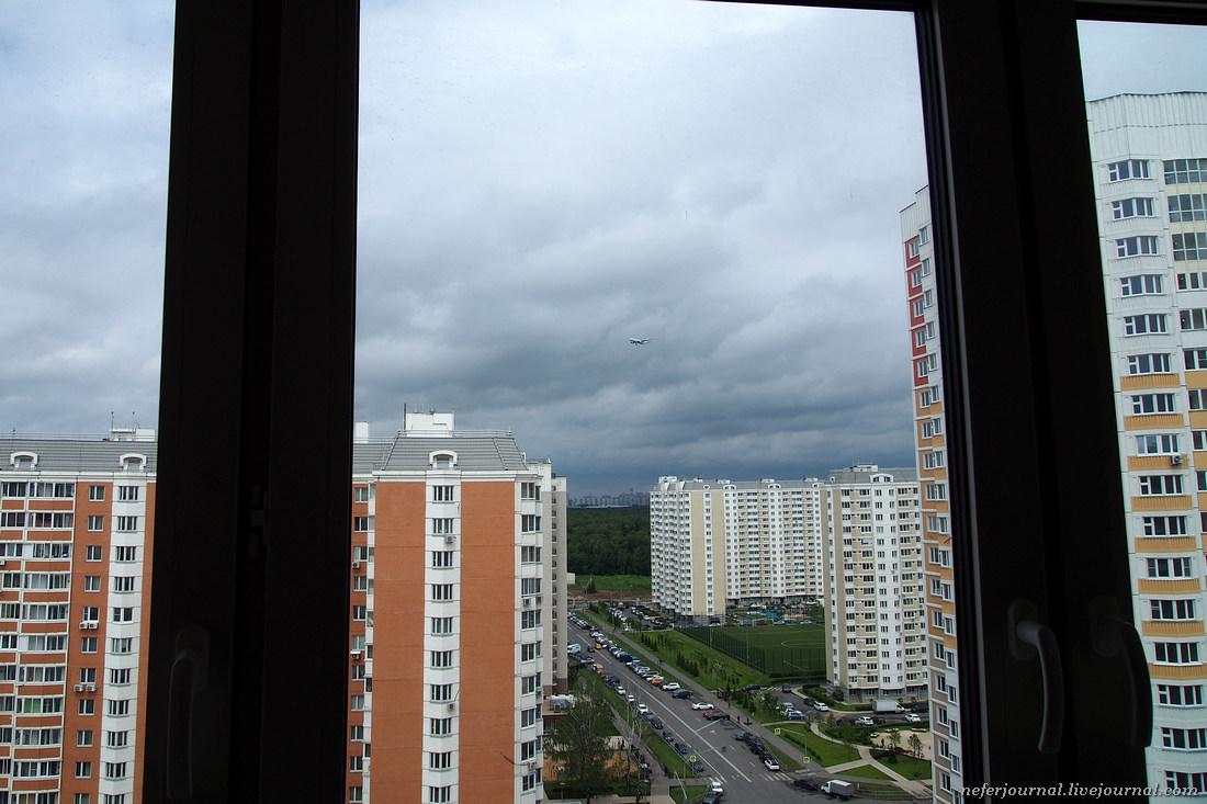 Город Московский. Споттинг с балкона.