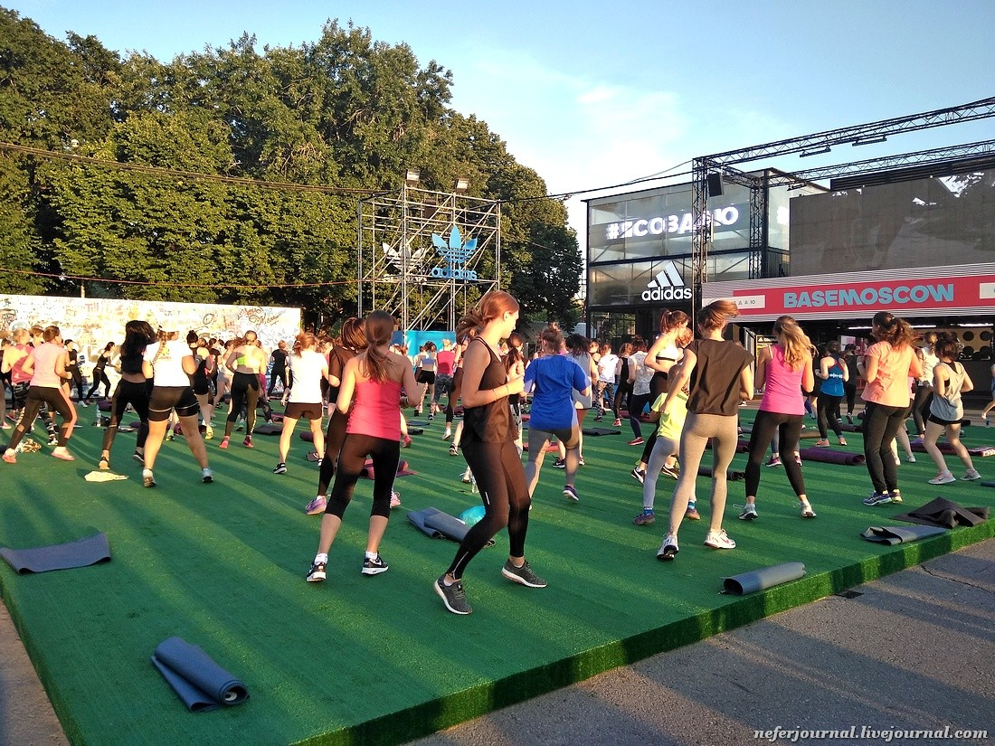 Бесплатный фитнес в Парке Горького