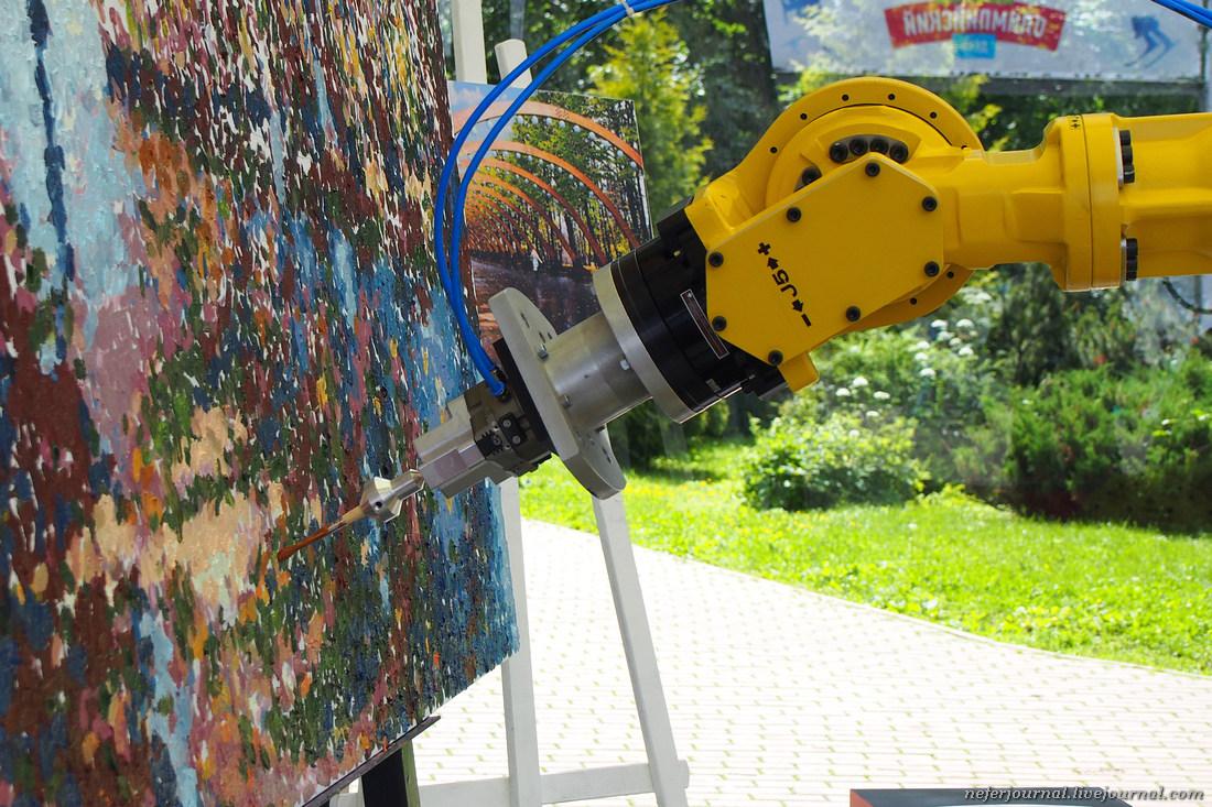 Робот-художник в парке Сокольники