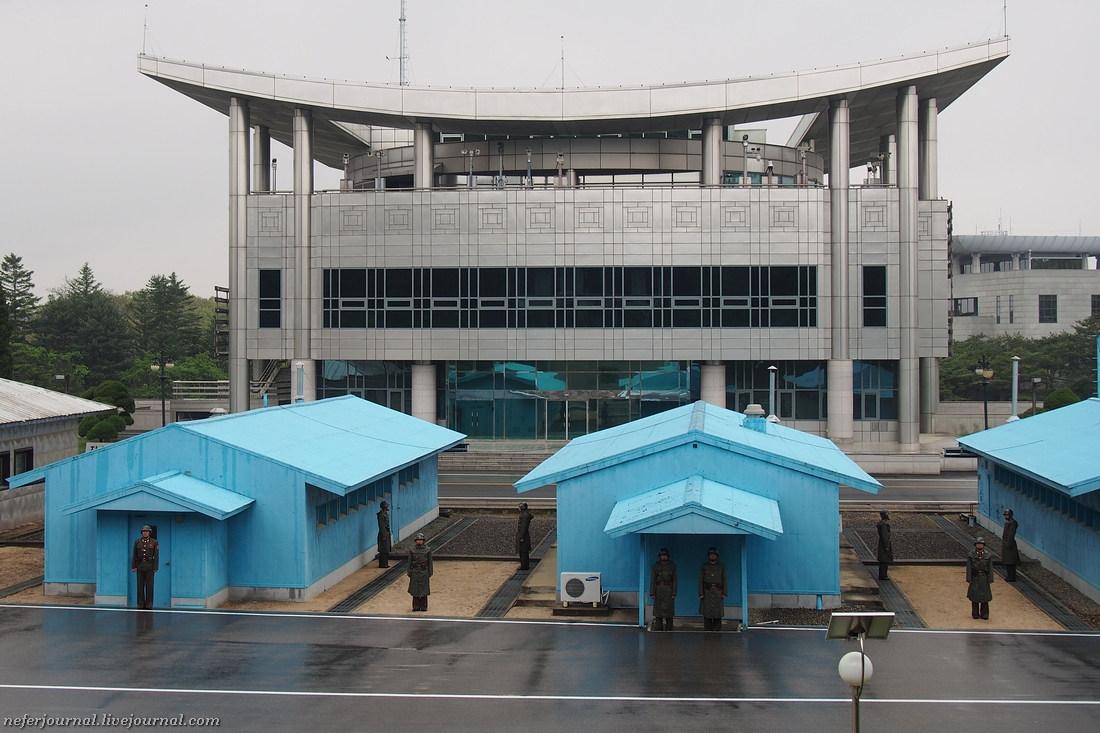 Граница двух Корей со стороны Северной