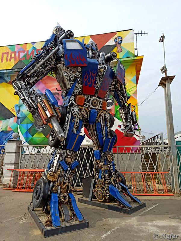 Робот на Красном Октябре и реконструкция ГЭС-2 moscow,redminote8pro,Россия