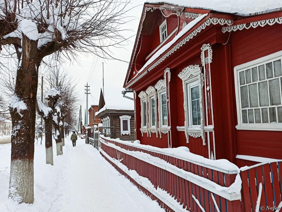 В Палехе даже Магнит с резными наличниками Ленин,redminote8pro,Ивановская область,храмы,Россия