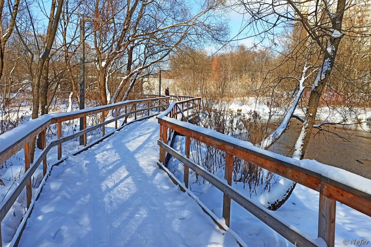 Перевернутый мост из Свиблово в Отрадное