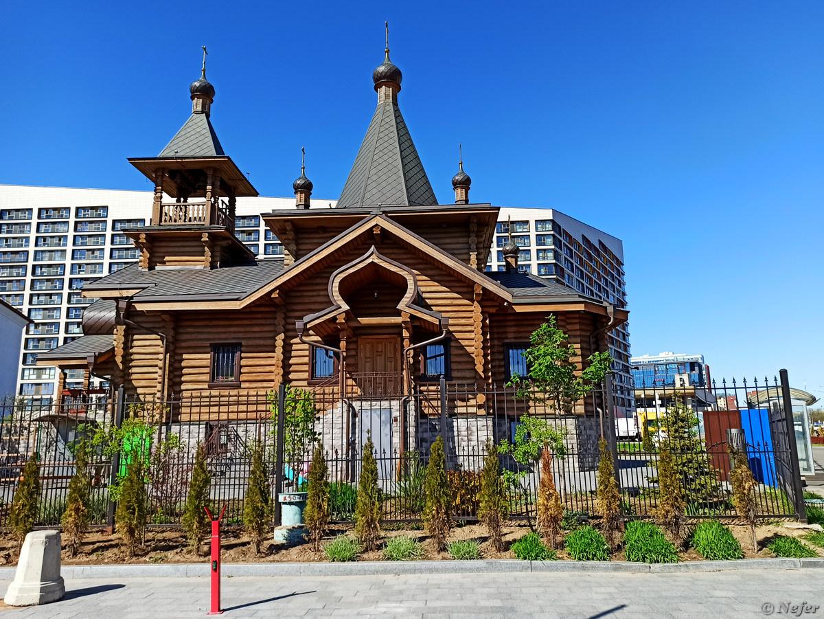 Дома на Ходынском поле moscow,redminote8pro,храмы,Россия